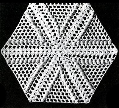 Pinwheel Popcorn Bedspread Pattern Square