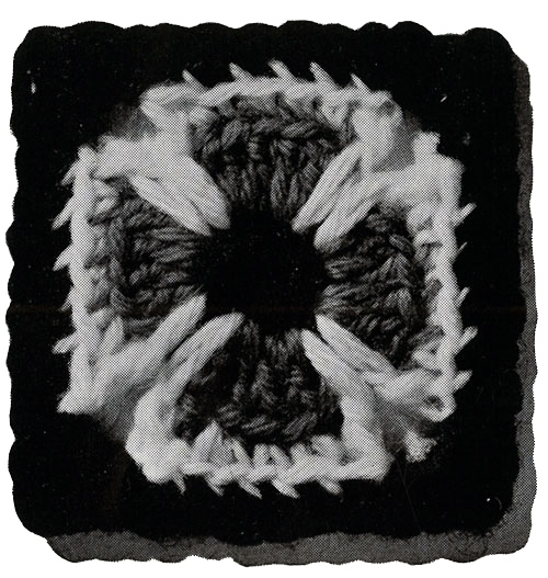 Maltese Cross Afghan Pattern motif