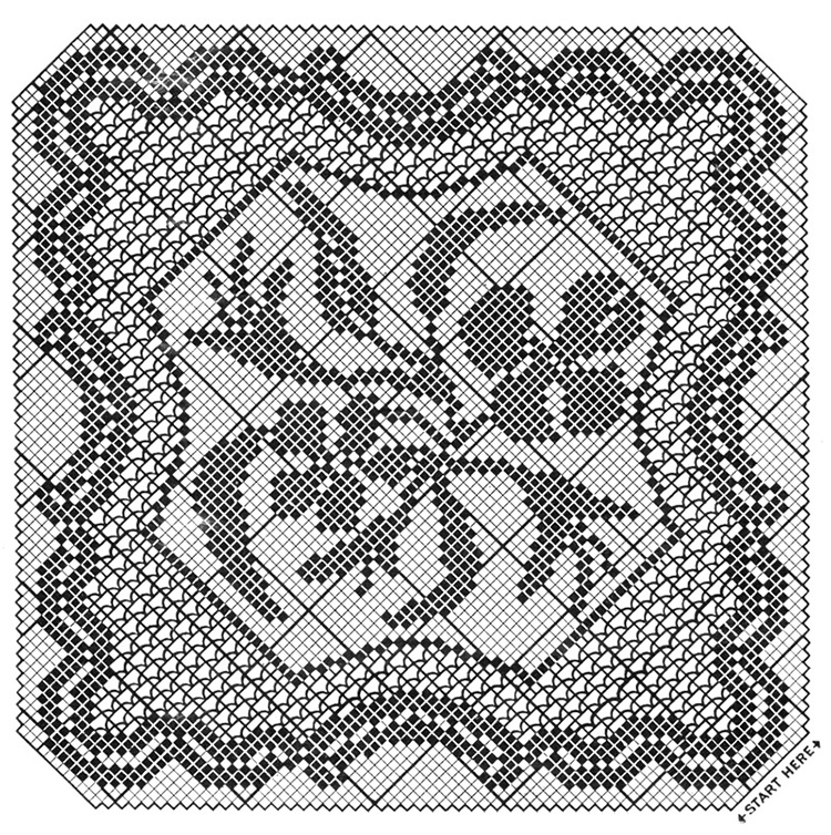 Party Piece Doily Pattern #7600 chart