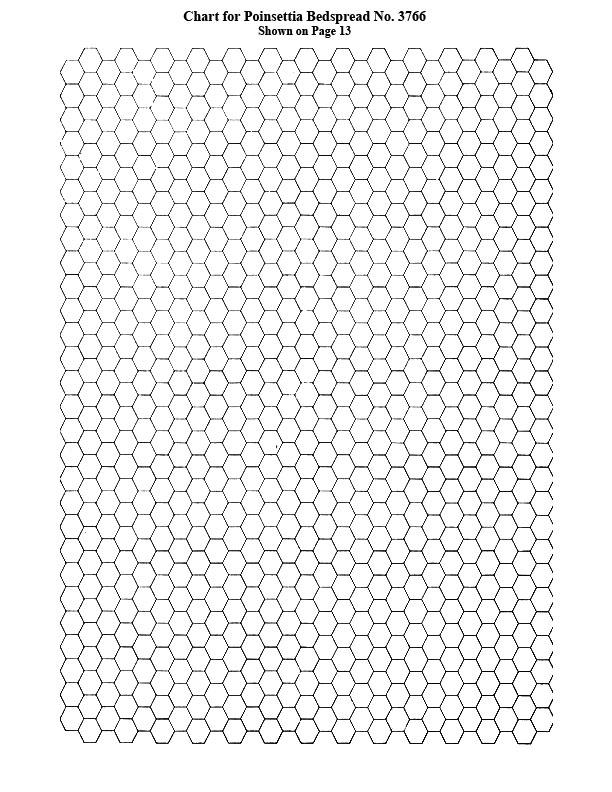Poinsettia Bedspread Pattern chart b