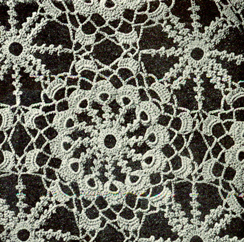 Irish Crochet Tablecloth