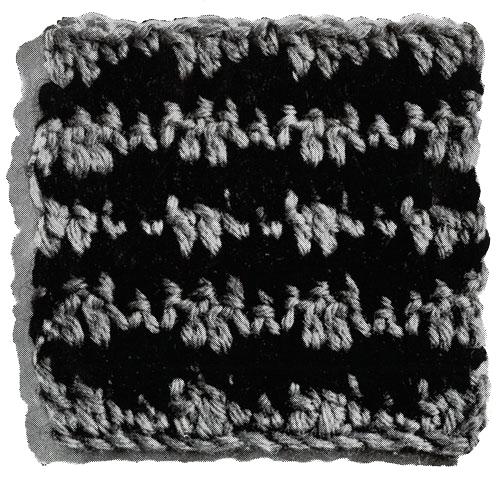 Checkmate Afghan Pattern motif