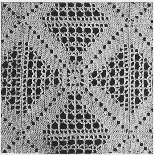 Rhythm Bedspread Pattern #684 swatch
