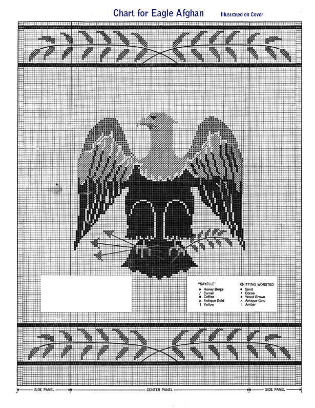 The Eagle Afghan Pattern chart