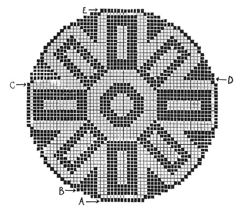 Pedigree Doily Pattern #7110 chart