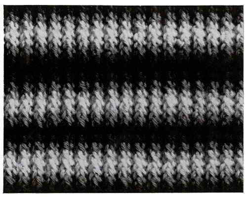 Shaded Stripes Afghan Pattern motif