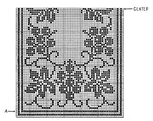 Grapevine Runner Pattern #7118 chart