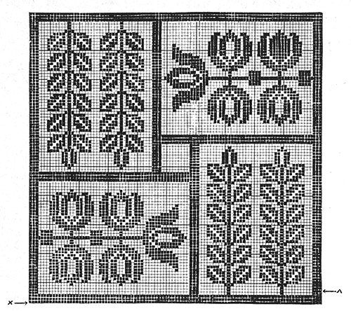 Flower Tile Doily Pattern #7112 chart