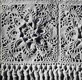 Puritan Bedspread Pattern motif
