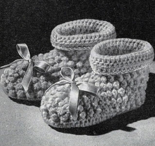 Crocheted Picot Set Pattern booties