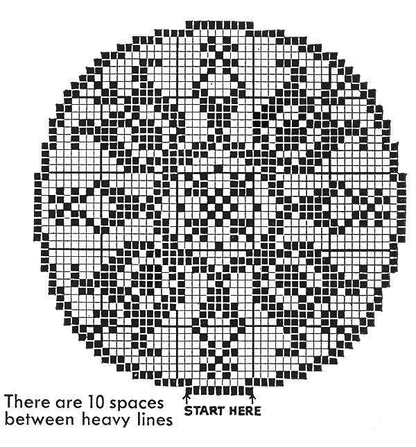 Filet Doily Pattern #3-54