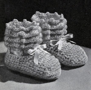 Shell Stitch Baby Set Pattern booties