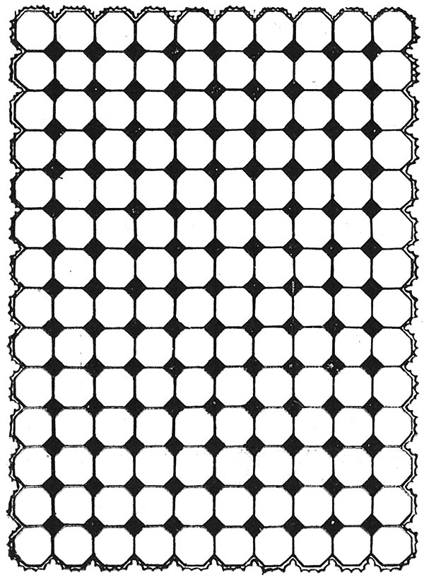 Flagstone Afghan Pattern #632 chart