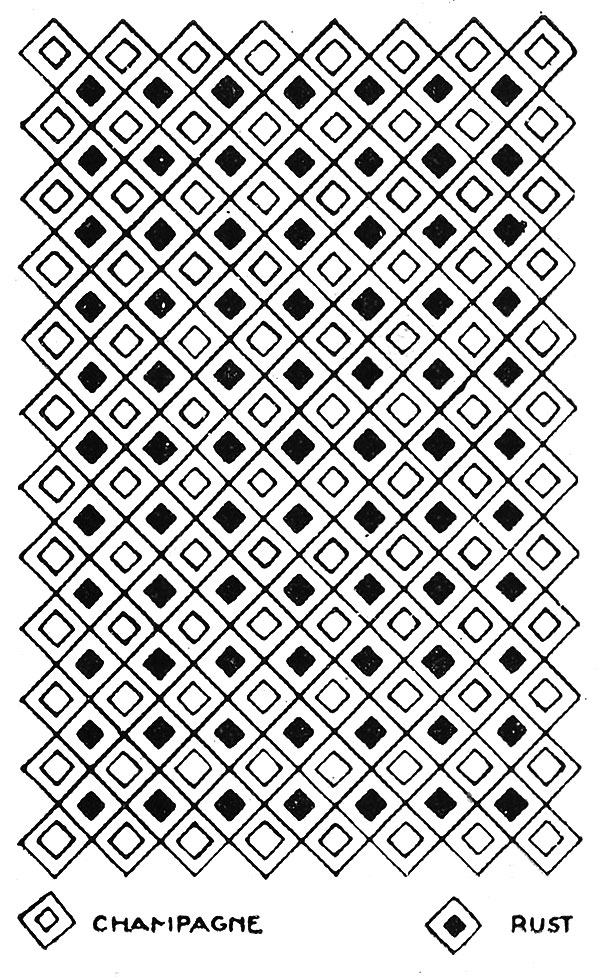 Harlequin Afghan Pattern #634 chart