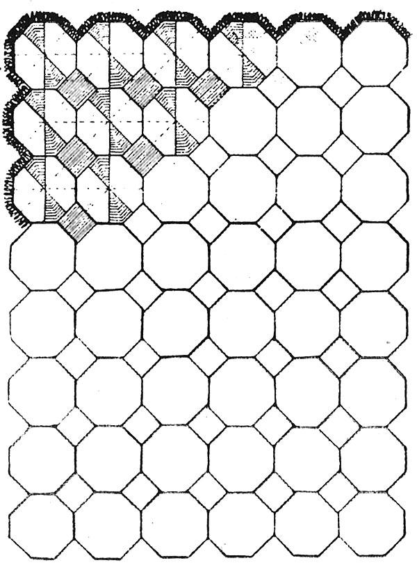 Cartwheel Afghan Pattern #638 chart