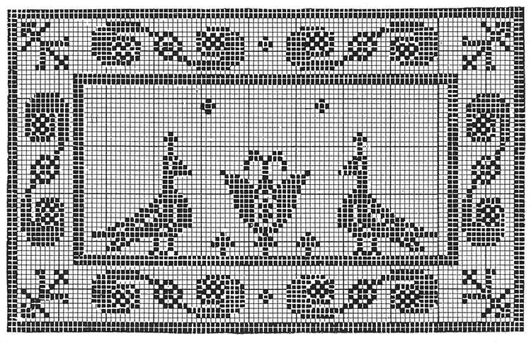 Bird and Flower Chair Set Pattern #7087 chart