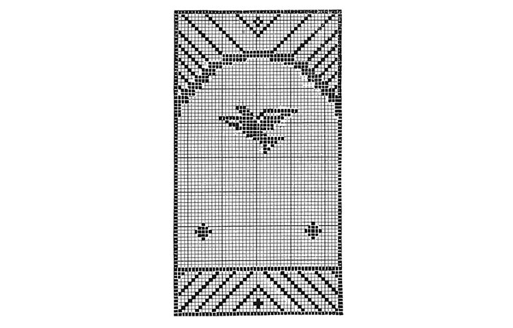 Bird and Tree Chair Set Pattern #7102 chart 2