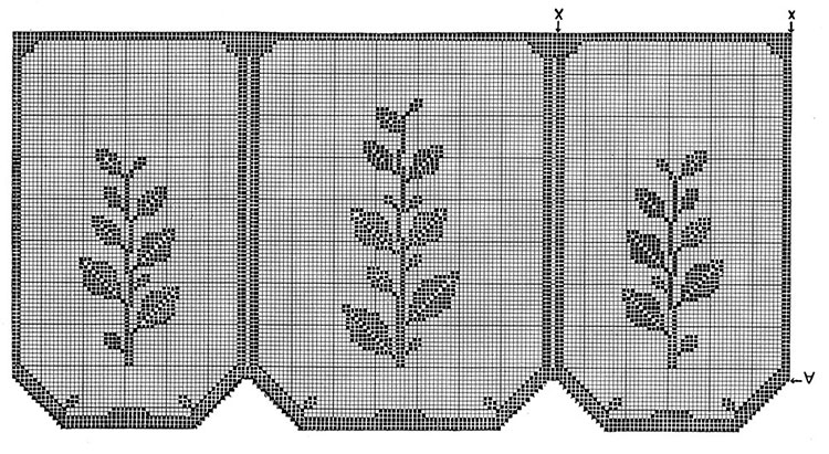 Plant Chair Set Pattern #7104 chart