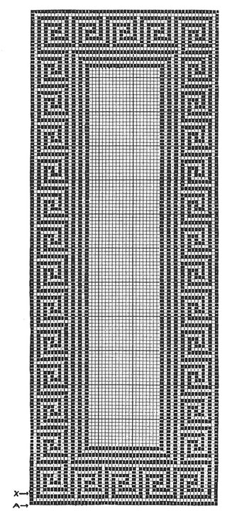Greek Key Runner Pattern #7120 chart