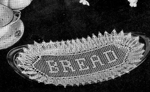 Filet Bread Tray Doily Pattern #7131