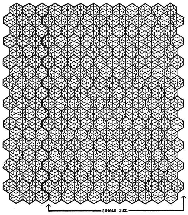 Popcorn Star Bedspread Pattern #651 chart