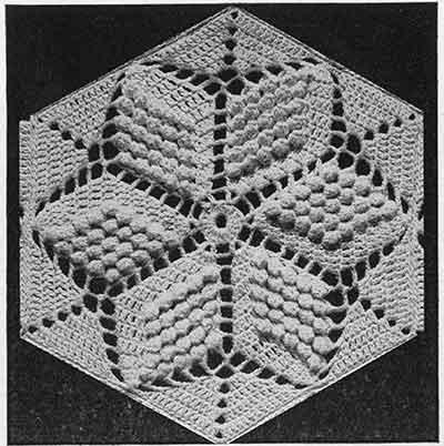 Popcorn Star Bedspread Pattern #651 swatch