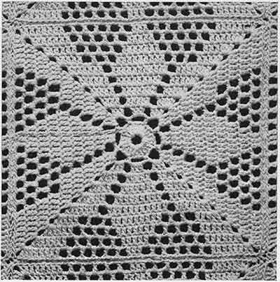 Vespers Bedspread Pattern #655 swatch