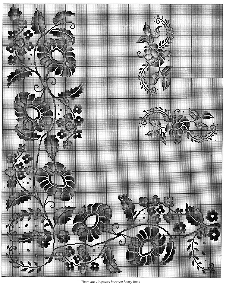 Floral Classic Tablecloth Pattern #7139 chart 1