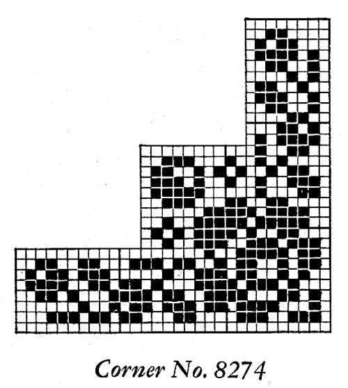 Filet Crochet Corner Motif #8274