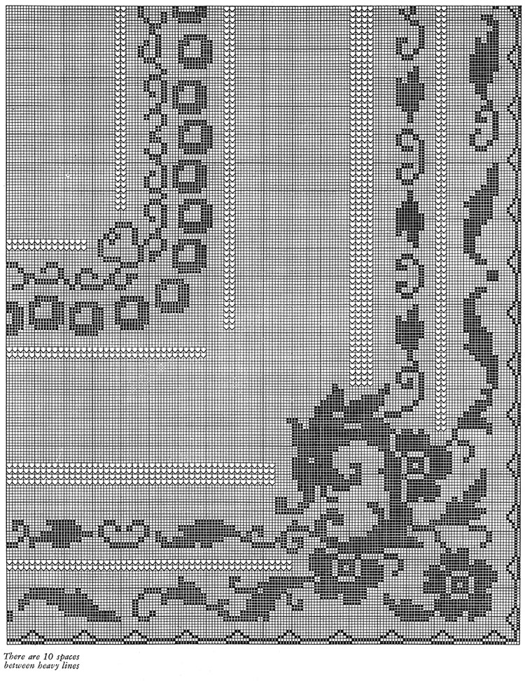 St George and the Dragon Tablecloth Pattern #7195 chart