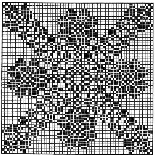 Trellis of Flowers Tablecloth Pattern #7200 chart