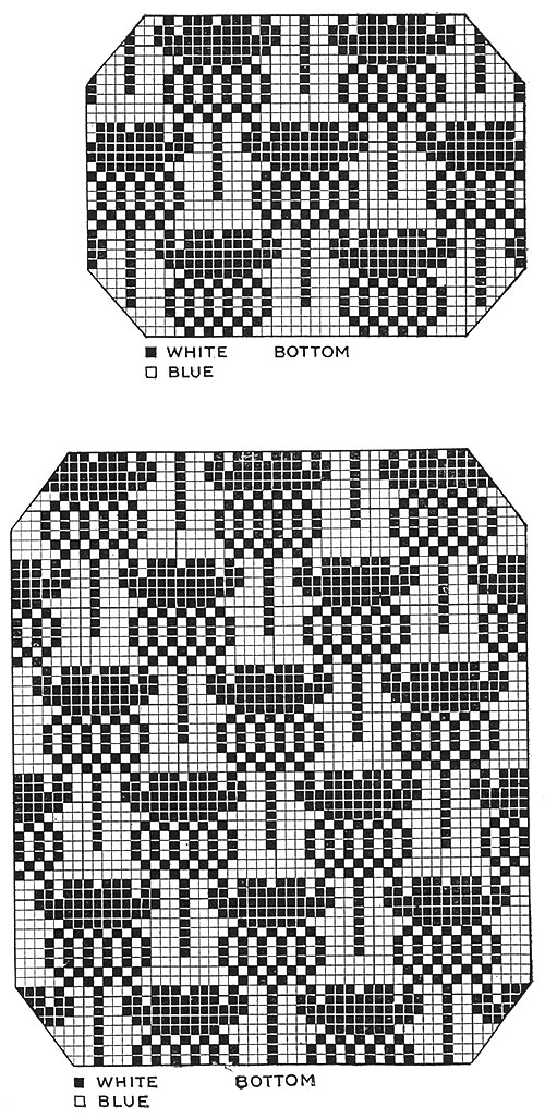 Cottage Chair Set Pattern #7233 chart