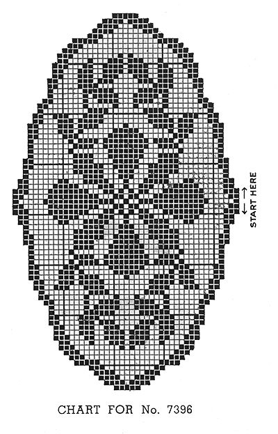 Bread Tray Doily Pattern #7396 chart