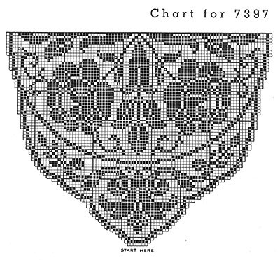King's Ransom Doily Pattern #7397 chart