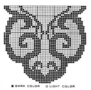 Butterfly Wings Runner Pattern #7421 chart