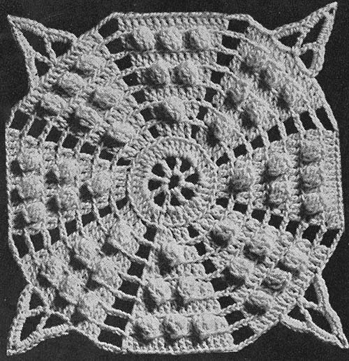 Octagon Popcorn Bedspread Pattern #213