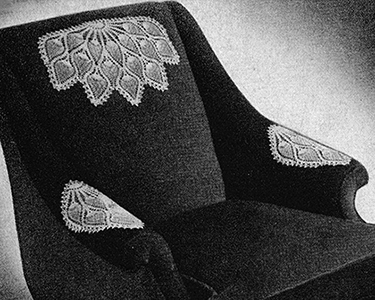 Pineapple Fan Chair Set Pattern #7515