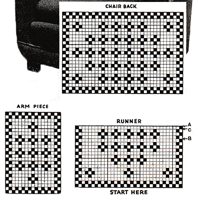 Block Party Runner and Chair Set Pattern #7519