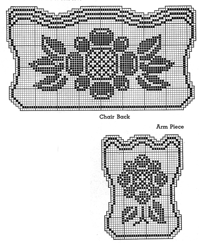 Pent House Chair Set Pattern #7522 chart