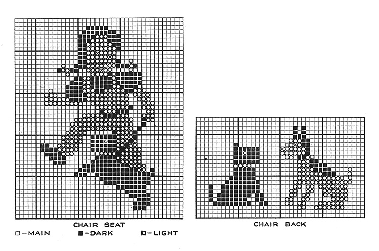 Chair Pads Pattern #5223 chart