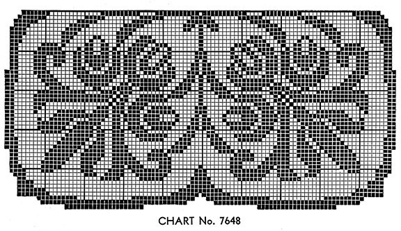 Manor House Doily Pattern chart