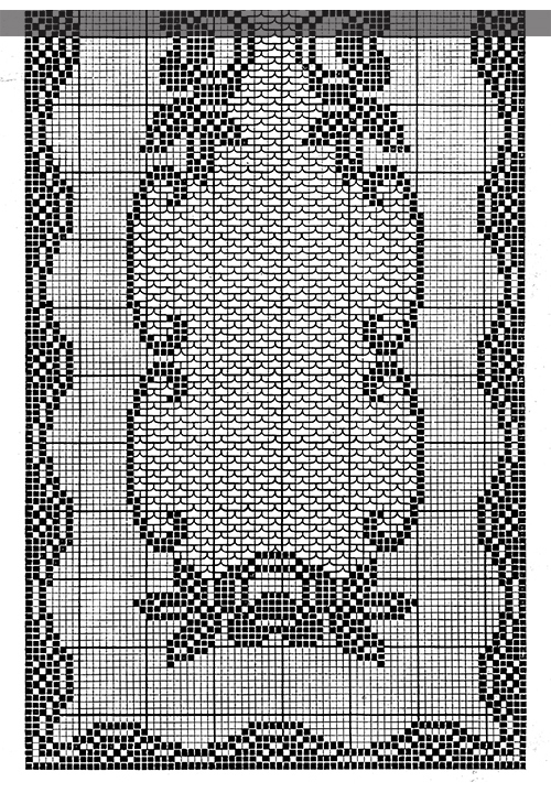 Queen of the Garden Runner Pattern #7399 chart