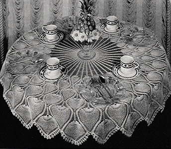 Pineapple Tablecloth Pattern #7592m