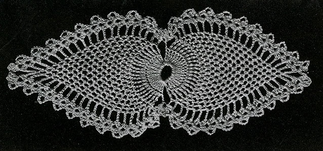 Night Table Doily Pattern #7767-A motif
