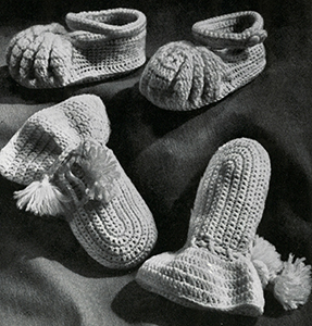 Cap, Bootees, and Mittens Set Pattern #5341