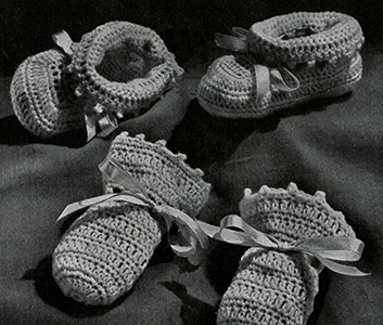 Cap, Bootees, and Mittens Set Pattern #5342
