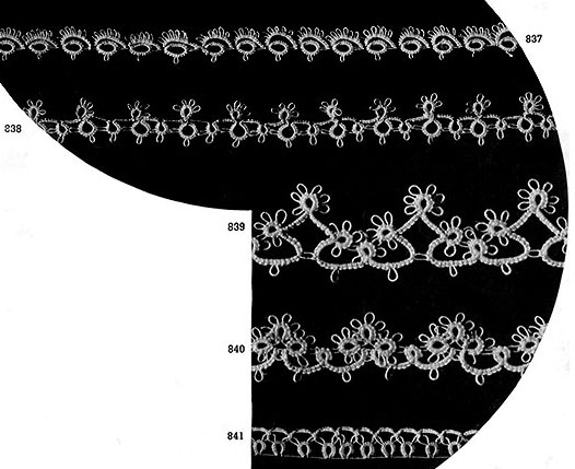 Tatting Edging Patterns #832-841