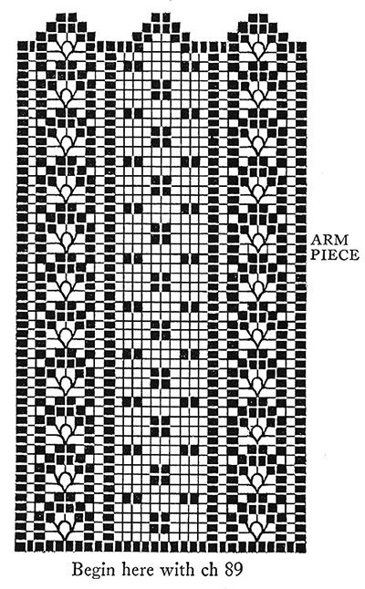 Checker Filet Chair Set Pattern #7038 chart 2