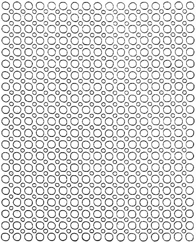 Star Wheel Bedspread Pattern #200 chart