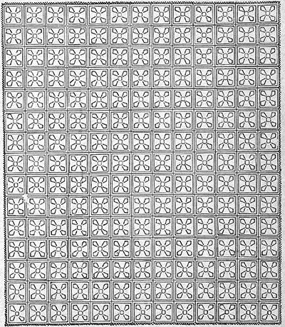 Windmill Bedspread Pattern #203 chart
